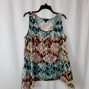 Ab studio top shirt blouse printed